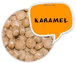 Karamel bolsjer og logoslik